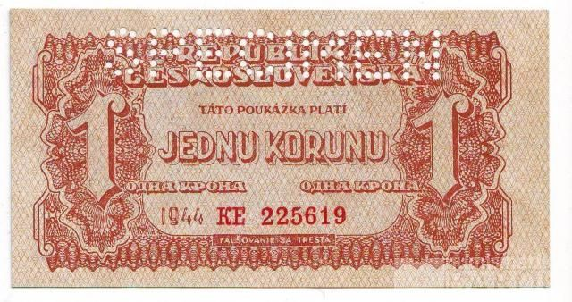 1K/1944/, stav UNC perf. SPECIMEN, vzácná série KE