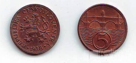 5 Haléř(1938), stav 1+/0