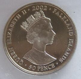 Falklandy 50 Pence letec.přehlídka 2002