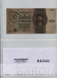 List k uložení bankovek do alba BARON 4, dvě kapsy