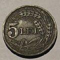 Rumunsko, 5 Lei, 1942