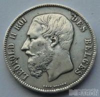 Belgie 5 Frank 1871 Leopold II.