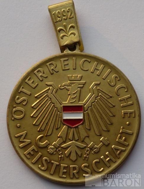 Rakousko - střelecká medaile 1992