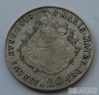 Uhry 20 Krejcar 1848 B Ferdinand V.