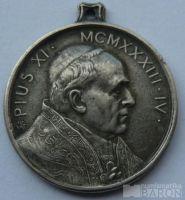 Vatikán - Pius XI - medaile na svatý rok 1933