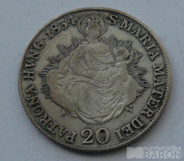 Uhry 20 Krejcar 1834 B František II.