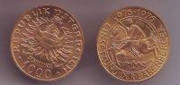 1000 Schilling(1976-Au 900-13,5g), stav 0/0, investiční mince