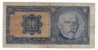 20Kč/1926/, stav 4, chybotisk bez série a čísla!