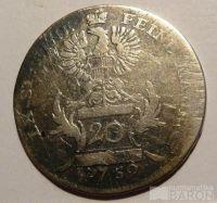 Brandenberg 20 Krejcar 1759 Alexander