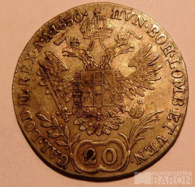 Čechy - Praha 20 Krejcar 1830 C František II.