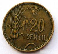 Litva 20 Centavos 1929