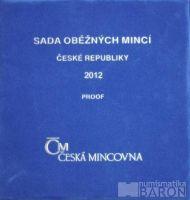Ročníková sada oběžných mincí ČR (2012), stavy PROOF