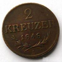 2 Krejcar 1848 A Ferd.V. revoluční, stav 1/0