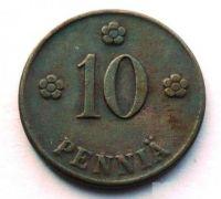 Finsko 10 Penia 1921