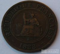 Francozská Indočína 1 C 1888