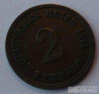 Německo 2 Pf t o/o 1875 J