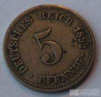 Německo 5 Pf 1892 A