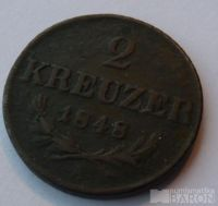 Rakousko 2 Krejcar 1848 A Ferd V.