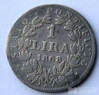 Vatikán 1 Lira 1868