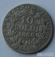 Vatikán 10 Soldi 1868