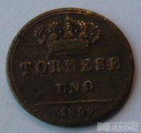 Itálie - Sicílie 1 Tornesi 1852