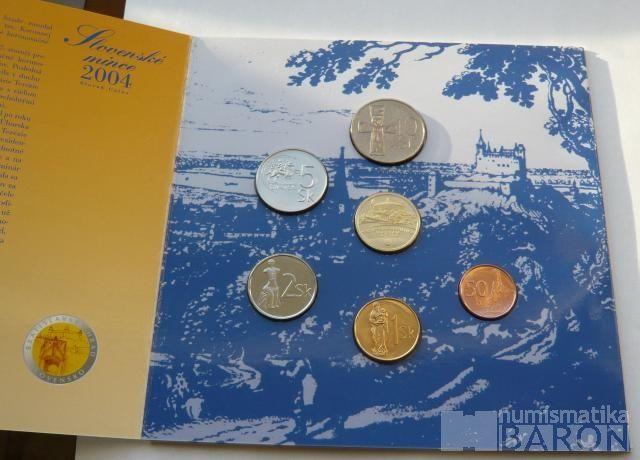 Ročníková sada oběžných mincí SR (2004-vstup do EU), stavy 0/0