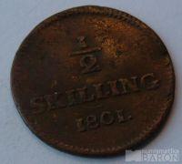 Švédsko 1/2 Schilling 1801 GUSTAV IV.
