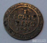 Švýcarsko 1 Schilling 1745