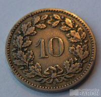 Švýcarsko 10 C 1885
