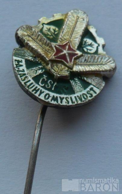 ČSSR-myslivecký odznak-miniatura