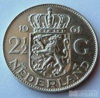 Holandsko 2 1/1 Gulden Ag 1961