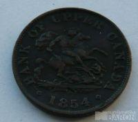 Kanada 1/2 Penny 1854