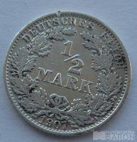 Německo 1/2 Marka 1907 A