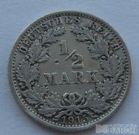 Německo 1/2 Marka 1915 A