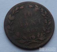 Rumunsko 10 Bani 1867