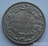Švýcarsko 2 Frank 1968