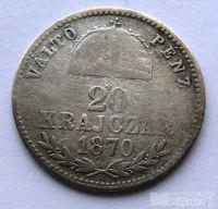 Uhry 20 Krejcar 1870 GYF