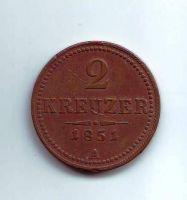 2 Krejcar(1851-ražba A), stav 1/1- dr.hr.
