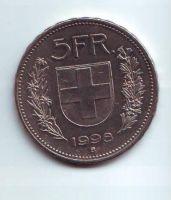 5 Frank(1998-Švýcarsko), stav 1/1