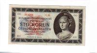 100Kčs/16.5.1945/, stav 1-, série N 20