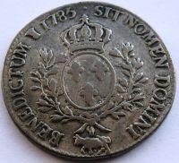 Francie Ecu dobové FALZUM 1785 Ludvík XVI.