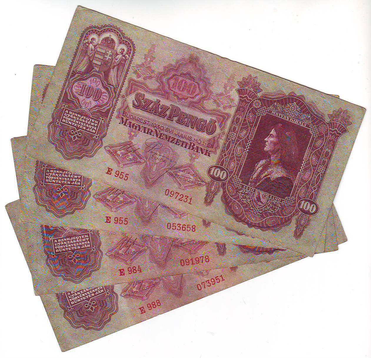 100Pengő/1930/, stav 2-3, série E