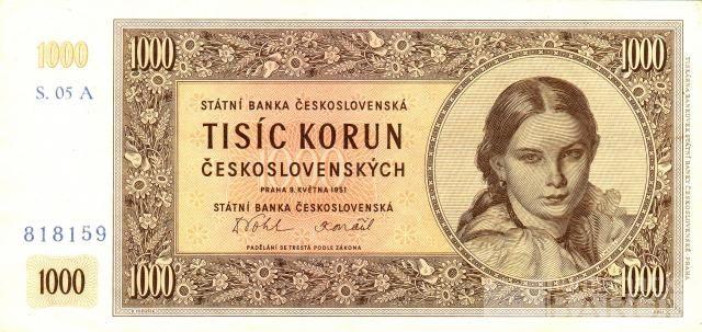 KOPIE 1000Kčs/1951/, stav UNC