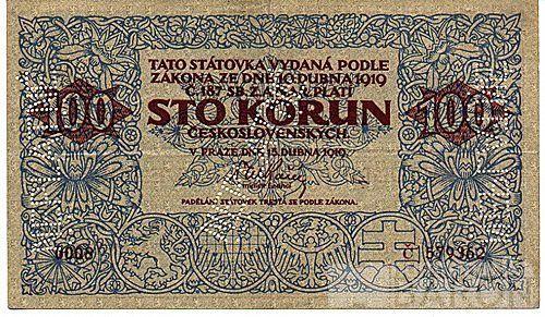 KOPIE 100Kč/1919/, stav UNC