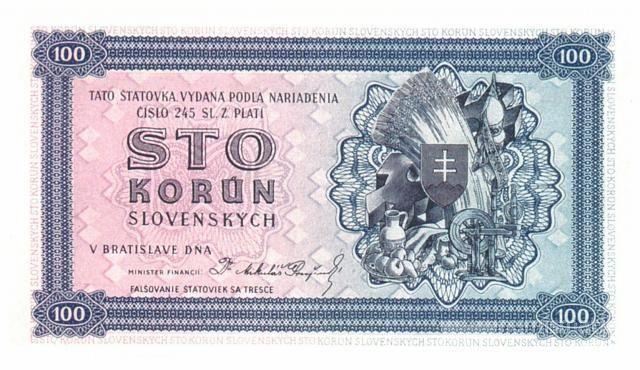 KOPIE 100Ks/1944-b.l./, stav UNC