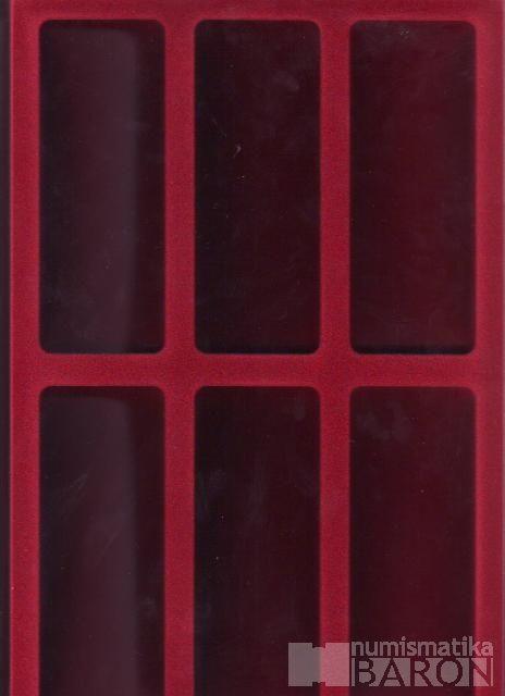 Plato na faleristiku s 3x 2 políček