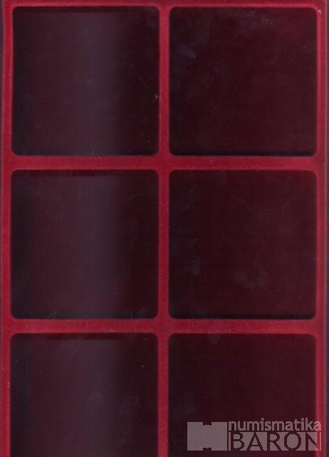 Plato na mince a plakety s 2x 3 políček do průměru 94 mm