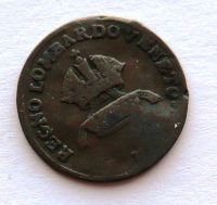 Lonbartsko - Benátsko 1 Centisimo 1822 V František II.
