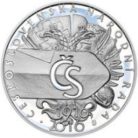 500 Kč(2016-založení Československé národní rady), stav PROOF, etue a certifikát