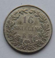 Dánsko 16 Schilling 1857